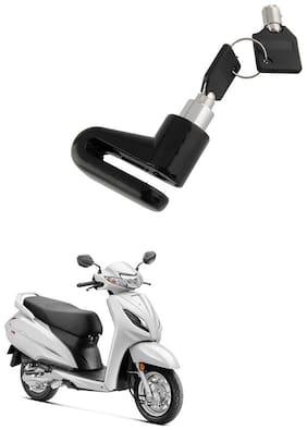 QiisX Mini Bicycle Motorcycle Disc Brake Lock/ Disk Lock Security For Honda Activa 6G