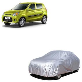 QualityBeast Car Cover for Maruti Suzuki Alto 800 Silver