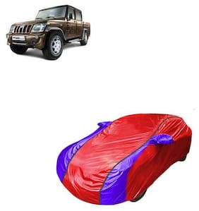 QualityBeast Car Cover for Mahindra Bolero Camper V Shape Red Blue