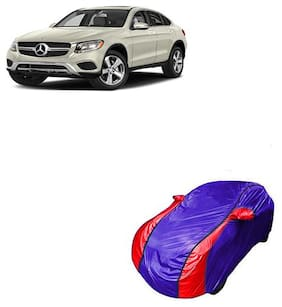 QualityBeast Car Cover for Mercedes-Benz GLC 2019 V Shape Blue Red