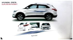 Quara Automaze Car Side Decal Full Body Sticker Graphics;Color Splendid Blue For Hyundai Creta 0227