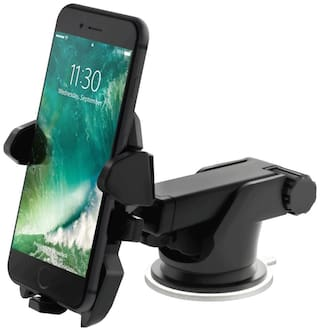 Quick Touch One Adjustable Car Windshield/Dashboard/Working Desk Mount for Phones upto 13.97 cm (5.5 inch) Phones