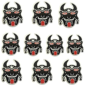 Ramanta Buri Nazar/ Black Ghost Sticker for Car & Bike - L: 3 Inch X W: 2 Inch;