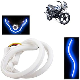 Ramanta Flexible 30Cm Bike Headlight Neon White Led Drl Tube Light for Bike, 1 pc, Professional Installation Required