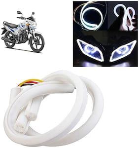 Ramanta Flexible 30Cm Bike Headlight Neon White Led Drl Tube Light for Bike, 1 pc, Professional Installation Required
