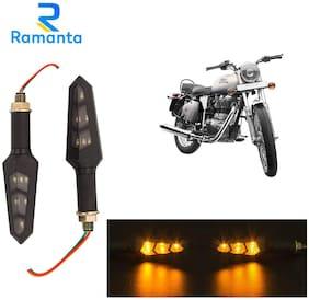 Ramanta Front;Rear LED Indicator Light for Royal Enfield Universal For Bike (Amber)