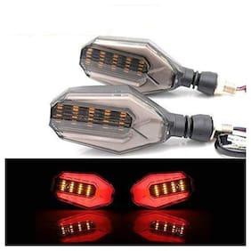 Ramanta Front;Rear LED Indicator Light for Universal For Bike Universal For Bike (Red;Amber)