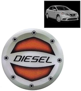 Ramanta Reflective Red Diesel Decal / Stylish Sticker Car Fuel Lid  for all Nissan cars. (Stylish Sticker Size: 10cm X 10cm) (Pack Of 1)