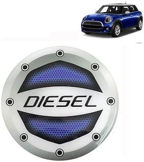 Ramanta Reflective Blue Diesel Decal / Stylish Sticker Car Fuel Lid  for all Isuzu cars. (Stylish Sticker Size: 10cm X 10cm) (Pack Of 1)