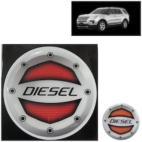 Ramanta Reflective Red Diesel Decal/Stylish Sticker for Ford All Car Models (Size: 12.5cm)