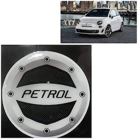Ramanta Reflective Black Petrol Inside Decal / Stylish Sticker Car Fuel Lid  for all Mitsubishi cars. (Stylish Sticker Size: 10cm X 10cm) (Pack Of 1)