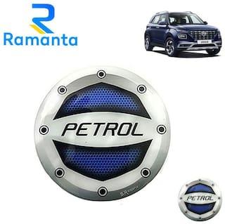 Ramanta Reflective Blue Petrol Inside Decal Car Fuel Cap Sticker for all Hyundai Cars