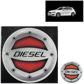 Ramanta Reflective Red Diesel Decal/Stylish Sticker for BMW All Car Models (Size: 12.5cm)