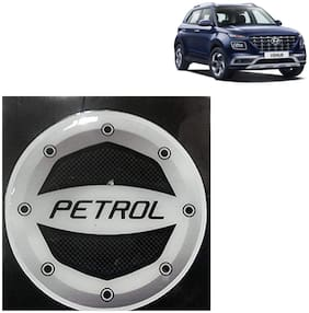 Ramanta Reflective Black Petrol Inside Decal Car Fuel Cap Stylish Sticker for  all Hyundai Cars (Size: 12.5 cm).