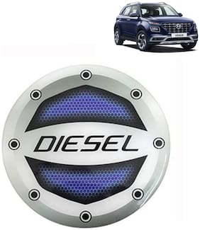 Ramanta Reflective Blue Diesel Decal / Stylish Sticker Car Fuel Lid  for all Hyundai cars. (Stylish Sticker Size: 10cm X 10cm) (Pack Of 1)