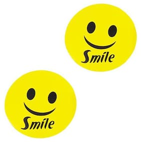 Ramanta Reflective Smile Decal Sticker for car size - 8 x 8 cm pack of 2