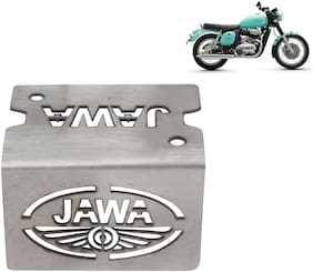 Ramanta Stainless Steel Bike Front Disc Brake Fluid Reservoir Cap Cover Guard Protector - Pack of 1 (for Jawa)