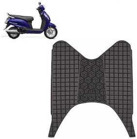 Ramanta Washable Foot Mat for Suzuki Access 125 (1 pc Black)