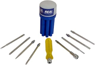 Real Screw Driver 8 pc Set with Neon Bulb