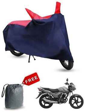 Red & Blue Bike Cover For Tvs Star City Bike Body Cover & Dustproof Bike Cover With Free storage bag !