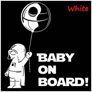 Reflective Baby on Board Car Body Styling Sticker Removable Waterproof