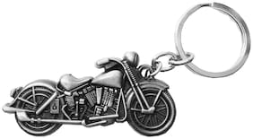 Relicon Grey Bike Metal Keyring for Car Men Women (R-2) Compatible for Royal Enfield Motorcycles Bullet Bike RE Keychain