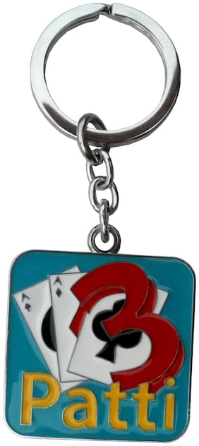 Relicon Teen Patti Playing Cards | Poker Cards (R-1) Metal Keychain for Car Bike Men Women Keyring