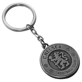 Relicon Two Sided Chelsea Football Club Sports (R-25/2) Grey Metal Keychain for Car Bike Men Women Keyring