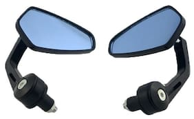 RIDAR Bike Handlebar End Rotatable Rear View Mirror Set of 2 Black-Honda Livo