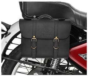 RIDAR Bike High Quality Handbag Style Side Saddle Bag Black for Royal Enfield Bullet 500 EFI