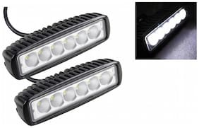 RIDAR Car 6 LED Bar Cree Fog Aux Light 18W Set of 2-Hyundai Sonata Fluidic