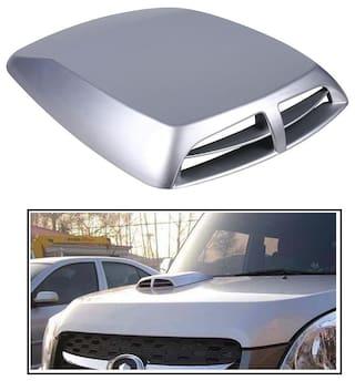RIDAR Silver Double Vent Air Intake Car Bonnet Scoop Hood for Maruti Baleno  New