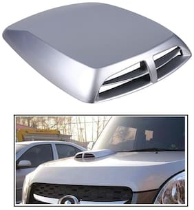 RIDAR Silver Double Vent Air Intake Car Bonnet Scoop Hood for Renault Duster 4X4