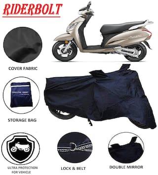 RIDERBOLT Dust-Proof Honda Activa 125 Body Cover(Double Pocket, Black)