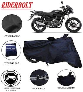 RIDERBOLT Dust-Proof Bajaj Pulsar 150 Body Cover(Double Pocket, Black)