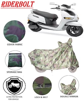 Riderbolt Dust-Proof TVS Iqube Body Cover(Double Pocket)