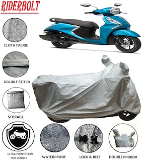 RIDERBOLT Water-Proof Yamaha Fascino Body Cover(Double Pocket,Octane)
