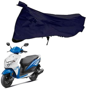 Riderscart 100 % Water Proof Blue 190 T Tafta Imported Fabric Two Wheeler Bike Cover With Anti Uv Protection With Anti Theft Lock Holes & Buckles For Honda Dio With Warranty