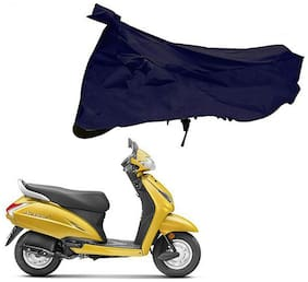 Riderscart 100 % Water Proof Blue 190 T Tafta Imported Fabric Two Wheeler Bike Cover With Anti Uv Protection With Anti Theft Lock Holes & Buckles For Honda Activa With Warranty