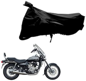 Riderscart 100 % Water Proof Black 190 T Tafta Imported Fabric Two Wheeler Bike Cover With Anti Uv Protection With Anti Theft Lock Holes & Buckles For Bajaj Avenger 220 Cruise With Warranty