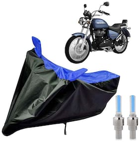 Riderscart 100 Percent Water Proof Bike Cover For Royal Enfield Thunderbird 500 X With Blue Tyre Light Black;Blue