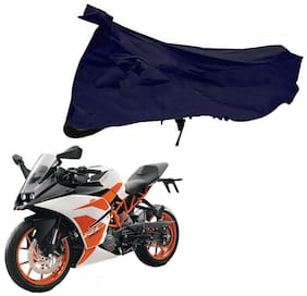 Riderscart 100 % Water Proof Blue 190 T Tafta Imported Fabric Two Wheeler Bike Cover With Anti Uv Protection With Anti Theft Lock Holes & Buckles For Ktm RC 200 With Warranty
