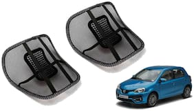 Riderscart Black Mesh Front Seat Premium Quality Back Rest Back Rest with Mesh Support Posture Support & Lumbar Support Pillow;Back Pain Support Cushion Seating Pad For Toyota Etios Liva Car