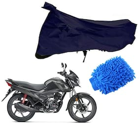 Riderscart Blue T 190 Two Wheeler Bike Cover With Microfiber Dusting Glove Combo For Ktm Duke 250