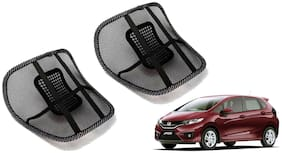 Riderscart Black Mesh Front Seat Premium Quality Back Rest Back Rest with Mesh Support Posture Support & Lumbar Support Pillow;Back Pain Support Cushion Seating Pad For Honda Jazz Car
