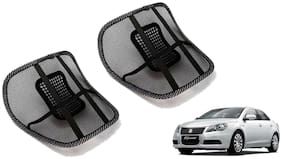 Riderscart Black Mesh Front Seat Premium Quality Back Rest Back Rest with Mesh Support Posture Support & Lumbar Support Pillow;Back Pain Support Cushion Seating Pad For Maruti Suzuki Kizashi Car