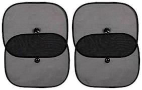 Riderscart Black Universal Cotton Sun Shade Car Window for Stingray Extra Protective Car Window Shade Blocks Over 98% Harmful UV Rays Universal Sun Shades with Vacuum Cups (4) With 6 Month Warranty