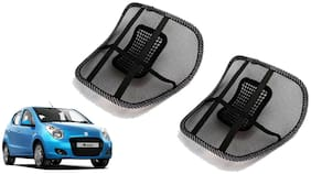 Riderscart Black Mesh Front Seat Premium Quality Back Rest Back Rest with Mesh Support Posture Support & Lumbar Support Pillow;Back Pain Support Cushion Seating Pad For Hyundai Accent Car
