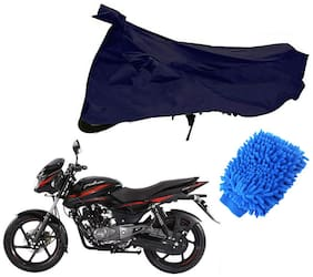 Riderscart Blue T 190 Two Wheeler Bike Cover With Microfiber Dusting Glove Combo For Hero Maestro