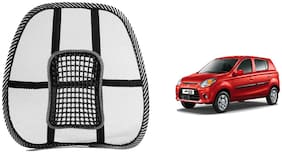 Riderscart Black Mesh Front Seat Premium Quality Back Rest Back Rest with Mesh Support Posture Support & Lumbar Support Pillow